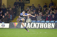 31/01/2004 Parker Pen Challenge Trophy.Bath Rugby v Beziers.Olly Barkley...   [Mandatory Credit, Peter Spurier/ Intersport Images].