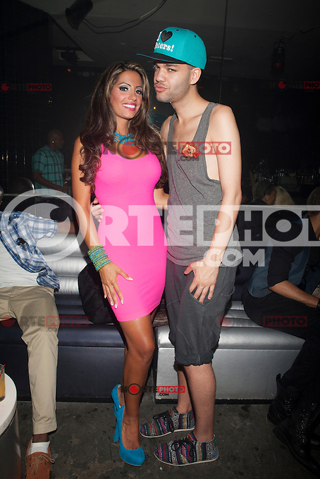 Elizabeth Ann Vashisht and Jason Christopher Peters attend A Bad Girls Club Night Out at Splash in New York City. August 8, 2012. &copy;&nbsp;Diego Corredor/MediaPunch Inc. /Nortephoto.com<br /> <br /> **SOLO*VENTA*EN*MEXICO**<br /> **CREDITO*OBLIGATORIO** <br /> *No*Venta*A*Terceros*<br /> *No*Sale*So*third*<br /> *** No Se Permite Hacer Archivo**<br /> *No*Sale*So*third*
