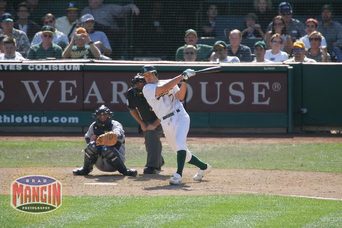 Bobby Crosby. Baseball: Seattle Mariners vs Oakland Athletics. Oakland, CA 9/30/2004 MANDATORY CREDIT: Brad Mangin