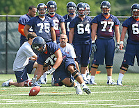 Virginia guard Oday Aboushi  during open spring practice for the Virginia Cavaliers football team August 7, 2009 at the University of Virginia in Charlottesville, VA. Photo/Andrew Shurtleff