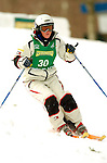 15 January 2005 - Lake Placid, New York, USA - Mc-Kenzy Golding representing the USA, competes in the FIS World Cup Ladies' Moguls Freestyle ski competition, ranking 18th for the day, at Whiteface Mountain, Lake Placid, NY. ..Mandatory Credit: Ed Wolfstein Photo.