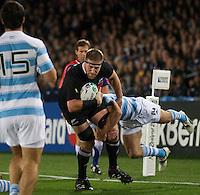 Rugby World Cup Auckland  New Zealand v Argentina Quarter Final 4 - 09/10/2011. Brad Thorn (New Zealand)  .Photo Frey Fotosports International/AMN Images