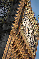 Big Ben, 1858, clock tower of Palace of Westminster or Houses of Parliament, London, UK, 1840-60, by Sir Charles Barry and Augustus Pugin. The Gothic Perpendicular building replaced its predecessor, destroyed by fire, 1834. The 96.3 metre high clock tower is named after its largest bell, Big Ben. Picture by Manuel Cohen