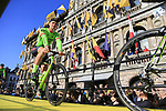 Ryan Mullen (IRL) Cannondale-Drapac Pro Team on stage at sign on before the 101st edition of the Tour of Flanders 2017 running 261km from Antwerp to Oudenaarde, Flanders, Belgium. 26th March 2017.<br /> Picture: Eoin Clarke | Cyclefile<br /> <br /> <br /> All photos usage must carry mandatory copyright credit (&copy; Cyclefile | Eoin Clarke)