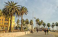 Santa Monica Ocean Front Walk, Thursday, January 8, 2015.