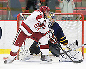 Matt McCollem (Harvard - 23), Eric Hartzell (Quinnipiac - 33) - The visiting Quinnipiac University Bobcats defeated the Harvard University Crimson 3-1 on Wednesday, December 8, 2010, at Bright Hockey Center in Cambridge, Massachusetts.