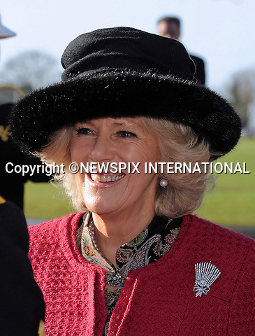 "CAMILLA, DUCHESS OF CORNWALL.presented operational medals to Royal Navy medics who have recently returned from operations in Afghanistan..In her role as Commodore-in-Chief Royal Naval Medical Services, the Duchess attended the ceremony at HMS Excellent, Whale Island, Portsmouth_27/01/2012.Photo Credit: ©Simpson/Newspix International..**ALL FEES PAYABLE TO: ""NEWSPIX INTERNATIONAL""**..PHOTO CREDIT MANDATORY!!: NEWSPIX INTERNATIONAL..IMMEDIATE CONFIRMATION OF USAGE REQUIRED:.Newspix International, 31 Chinnery Hill, Bishop's Stortford, ENGLAND CM23 3PS.Tel:+441279 324672  ; Fax: +441279656877.Mobile:  0777568 1153.e-mail: info@newspixinternational.co.uk"