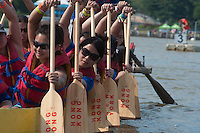 New York City, NY.  9 August 2014. The 24th annual dragon boat festival was set for Saturday and Sunday in Flushing Meadows Corona Park and includes music and demonstrations of traditional Asian Folk arts and crafts. Photo by Joana Toro VIEWpress.