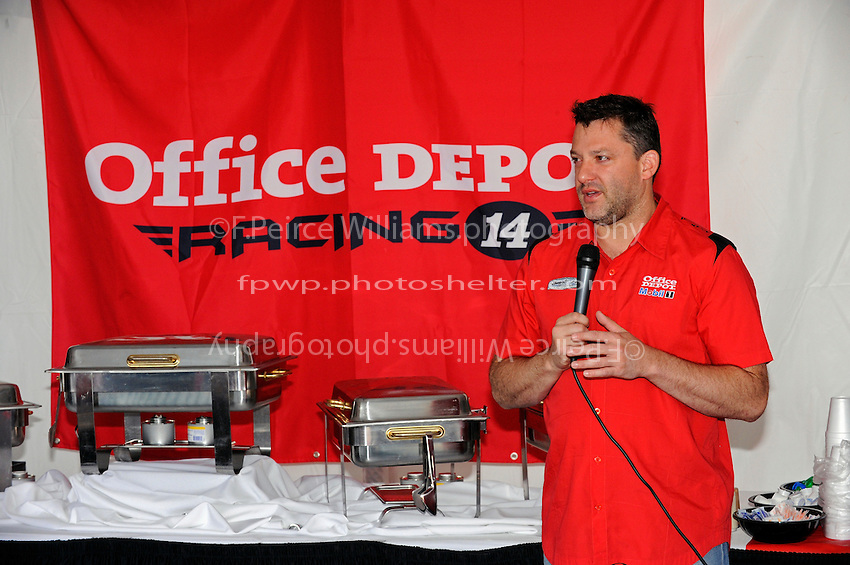 Tony Stewart (#14) at a hospitality appearance.