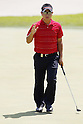 Shunsuke Sonoda, MAY 13, 2012 - Golf : Shunsuke Sonoda reacts on the 14th green during the PGA Championship Nissin Cupnoodles Cup 2012 final round at Karasuyamajo Country Club, Tochigi, Japan. (Photo by Yusuke Nakanishi/AFLO SPORT) [1090]