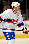 9 December 2006: Montreal Canadiens center and team Captain Saku Koivu (11) of Finland warms up prior to a game against the Buffalo Sabres at the Bell Centre in Montreal, Canada. The Sabres defeated the Canadiens 3-2 in a shootout, taking their third contest in the month of December. Mandatory Photo credit: Ed Wolfstein Photo<br />  *** Editorial Sales through Icon Sports Media *** www.iconsportsmedia.com