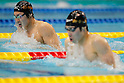 (L to R) Yuya Horihata (JPN), Kosuke Hagino (JPN), APRIL 2, 2012 - Swimming : JAPAN SWIM 2012 Men's 400m Individual Medley Final at Tatsumi International Swimming Pool, Tokyo, Japan. (Photo by Yusuke Nakanishi/AFLO SPORT) [1090]