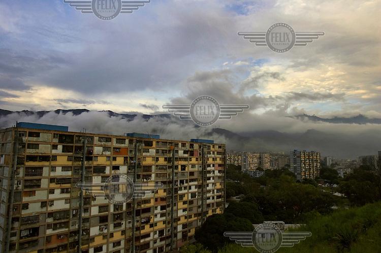 Apartment buildings in the poor barrio of 23 de Enero (23 January).