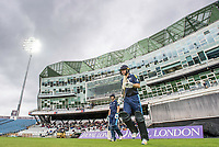 Picture by Allan McKenzie/SWpix.com - 16/05/2017 - Cricket - Royal London One-Day Cup - Yorkshire County Cricket Club v Leicestershire County Cricket Club - Headingley Cricket Ground, Leeds, England - Yorkshire's Alex Lees & Adam Lythg come out to bat under floodlights against Leicestershire in the Royal London One Day Cup.