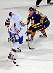 9 December 2006: Montreal Canadiens defenseman Sheldon Souray (44) takes the puck past Buffalo Sabres right wing forward Maxim Afinogenov (61) from Russia at the Bell Centre in Montreal, Canada. The Sabres defeated the Canadiens 3-2 in a shootout, taking their third contest in the month of December. Mandatory Photo credit: Ed Wolfstein Photo<br />  *** Editorial Sales through Icon Sports Media *** www.iconsportsmedia.com