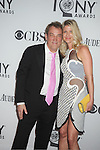 Des McNuff and fiancee attends th 66th Annual Tony Awards on June 10, 2012 at The Beacon Theatre in New York City.