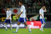 FUSSBALL   1. BUNDESLIGA   SAISON 2011/2012    5. SPIELTAG VfL Wolfsburg - FC Schalke 04                                  11.09.2011 Joel MATIP (Schalke) ist nach dem Abpfiff enttaeuscht
