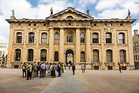 UK, England, Oxford.  Clarendon Building, Early 18th. Century, Oxford University.