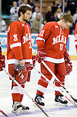 Dane Hetland (Miami - 3), Matt Christie (Miami - 11) - The Miami University RedHawks defeated the University of New Hampshire Wildcats 2-1 in the Northeast Regional Semifinal on Saturday, March 24, 2007 at the Verizon Wireless Arena in Manchester, New Hampshire.