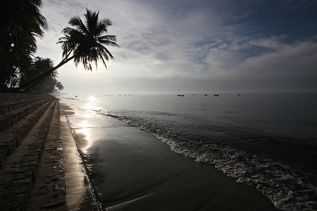 Early morning on the beach in Mui Ne, Vietnam. Nov. 20, 2011.