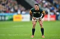 Jesse Kriel of South Africa looks on during a break in play. Rugby World Cup Pool B match between South Africa and the USA on October 7, 2015 at The Stadium, Queen Elizabeth Olympic Park in London, England. Photo by: Patrick Khachfe / Onside Images