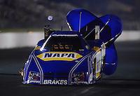 May 18, 2012; Topeka, KS, USA: NHRA funny car driver Ron Capps during qualifying for the Summer Nationals at Heartland Park Topeka. Mandatory Credit: Mark J. Rebilas-