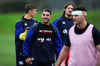 Dan Bowden of Bath Rugby looks on. Bath Rugby training session on November 22, 2016 at Farleigh House in Bath, England. Photo by: Patrick Khachfe / Onside Images