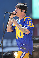 091816 Los Angeles, CA: Anthony Kiedis and The Red hot Chili Peppers perform at the Los Angeles Memorial Coliseum before the Los Angeles Rams 2016 home opener