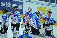IJSHOCKEY: EINDHOVEN: Bekerfinale UNIS Flyers- Tilburg trappers, uitslag 1-2, treurende verliezers, ©foto Martin de Jong
