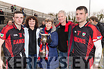 Kenmare supporters, pictured at the AIB Munster GAA football club final Kenmare v Adare held in Mallow on Sunday last, were l-r: Myra O'Leary, Alan O'Leary, Eileen O'Leary, John O'Leary and Sean O'Leary,