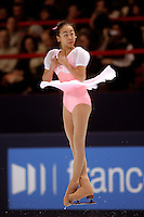 November 19, 2005; Paris, France; Figure skating star MAO ASADA of Japan skates to gold in ladies figure skating at Trophee Eric Bompard, ISU Paris Grand Prix competition.  Asada is just 15 years old and not eligible for the Torino 2006 Olympics, yet still a bright hope in Japanese figure skating for championships.<br />