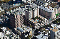 aerial photograph Knight Ridder Building, Fairmont Hotel, San Jose, San Clara county, California