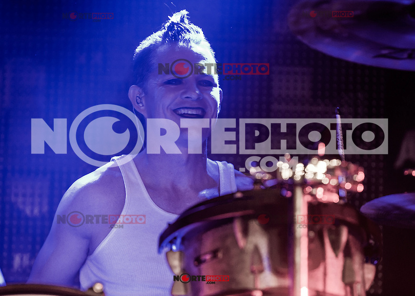 LAS VEGAS, NV - January 26 : Street Drum Corp with guests Tommy Lee of Motley Crue, Stephen Perkins of Janes Addiction and Adrian Young of No Doubt at Vinyl at Hard Rock Hotel & Casino in Las Vegas, Nevada on January 26, 2013. © Kabik/ Starlite/MediaPunch Inc ***HOUSE COVERAGE*** /NortePhoto /NortePhoto