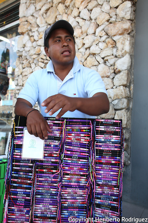 A Native  Naua Mexican vendor sells handcrafts on the main street of Ensenada, in northwestern state of Baja California, June 24, 2008. Photo by Heriberto Rodriguez