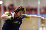 NAPERVILLE, IL - MARCH 11: Ethan Ehlers of Augustana College competes in the shot put at the Division III Men's and Women's Indoor Track and Field Championship held at the Res/Rec Center on the North Central College campus on March 11, 2017 in Naperville, Illinois. (Photo by Steve Woltmann/NCAA Photos via Getty Images)
