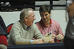 "Archie Manning (left) and Eli Manning attend Ole Miss vs. Arkansas at the C.M. ""Tad"" Smith Coliseum in Oxford, Miss. on Saturday, January 19, 2013. Mississippi won 76-64. (AP Photo/Oxford Eagle, Bruce Newman)"