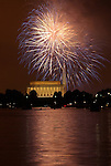 Fireworks light up DC on July 4, 2008.