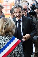 Former French president Nicolas Sarkozy meets Calais mayor - France
