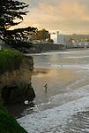 Surfer at Cowell's Beach in Santa Cruz