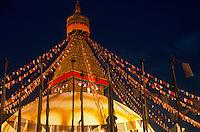 Boudhanath stupa, TIbetan Buddhist temple.