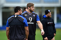 Dave Attwood of Bath Rugby looks on. Bath Rugby Captain's Run on October 30, 2015 at the Recreation Ground in Bath, England. Photo by: Patrick Khachfe / Onside Images