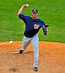 6 March 2009: Washington Nationals' pitcher Daniel Cabrera on the mound during a Spring Training game against the Baltimore Orioles at Fort Lauderdale Stadium in Fort Lauderdale, Florida. The Orioles defeated the Nationals 6-2 in the Grapefruit League matchup. Mandatory Photo Credit: Ed Wolfstein Photo