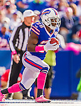 12 October 2014: Buffalo Bills running back C.J. Spiller returns a kickoff in the third quarter by the New England Patriots at Ralph Wilson Stadium in Orchard Park, NY. The Patriots defeated the Bills 37-22 to move into first place in the AFC Eastern Division. Mandatory Credit: Ed Wolfstein Photo *** RAW (NEF) Image File Available ***