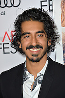 LOS ANGELES, CA. November 11, 2016: Actor Dev Patel at premiere of &quot;Lion&quot;, part of the AFI Fest 2016, at the TCL Chinese Theatre, Hollywood.<br /> Picture: Paul Smith/Featureflash/SilverHub 0208 004 5359/ 07711 972644 Editors@silverhubmedia.com