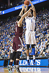 UK forward, Skal Labissiere shoots for 3 in their game against Miss. St. at Rupp Arena in Lexington, Ky. on Tuesday, January 12, 2016. Photo by Josh Mott | Staff.