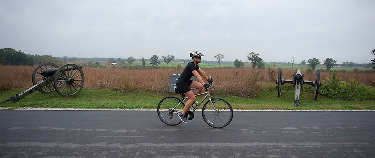 UNITED STATES -Sept 28: One of the best ways to visit and tour the Gettysburg National Military Park in Gettysburg Pennsylvania is by bicycle. (Photo By Douglas Graham/Roll Call )
