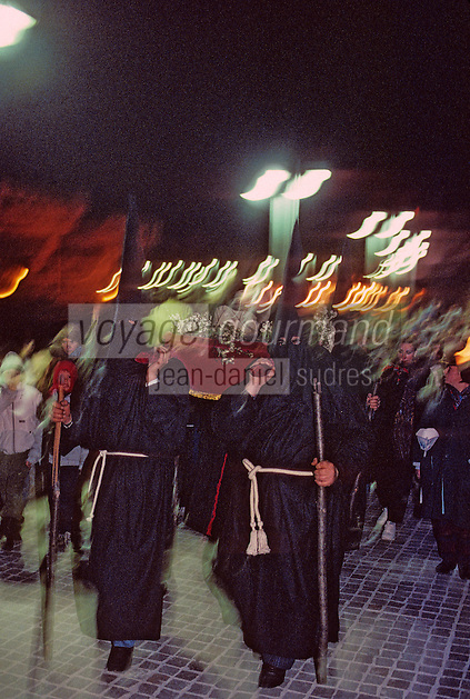 Europe/France/Languedoc-Roussillon/66/Pyr&eacute;n&eacute;es-Orientales/Collioure&nbsp;: procession de nuit de la Saint Sanch<br /> PHOTO D'ARCHIVES // ARCHIVAL IMAGES<br /> FRANCE 1980