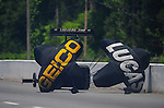May 5, 2012; Commerce, GA, USA: NHRA top fuel dragster driver Morgan Lucas during qualifying for the Southern Nationals at Atlanta Dragway. Mandatory Credit: Mark J. Rebilas-