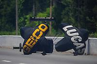 May 5, 2012; Commerce, GA, USA: NHRA top fuel dragster driver Morgan Lucas during qualifying for the Southern Nationals at Atlanta Dragway. Mandatory Credit: Mark J. Rebilas-