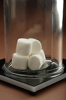 BOYLE'S MARSHMALLOWS<br /> The Inverse Relationship of Pressure &amp; Volume<br /> (2 of 3)<br /> With the bell jar in place, the chamber is evacuated by the vacuum pump.